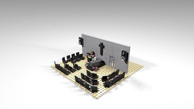 rouwlego: een aula in lego om kinderen te helpen met de rouw