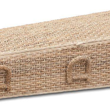 een bijzondere kist: een rieten uitvaartkist